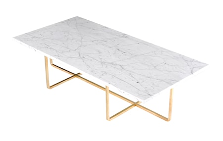 OX DENMARQ Ninety Table XL - Carrara marmor/mässingstomme H40 cm