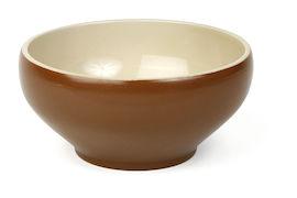 Skål 50cl brun/beige