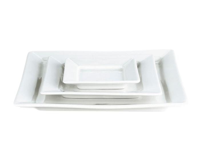 Quartet tallerken flad hvid, 18 cm