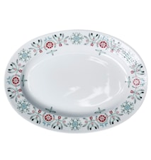 Swedish Grace Winter tallrik oval 32 cm