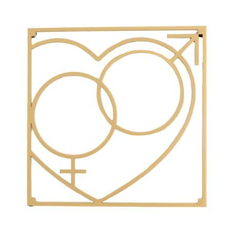 Love collection Gryteunderlag QM Love 18 x 18 cm Gull