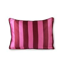 Satin/Velvet Cushion Pink/Purple 35x50 cm