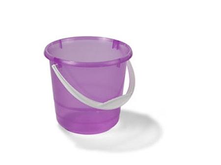Plastbøtte Transparant/Rosa 5L