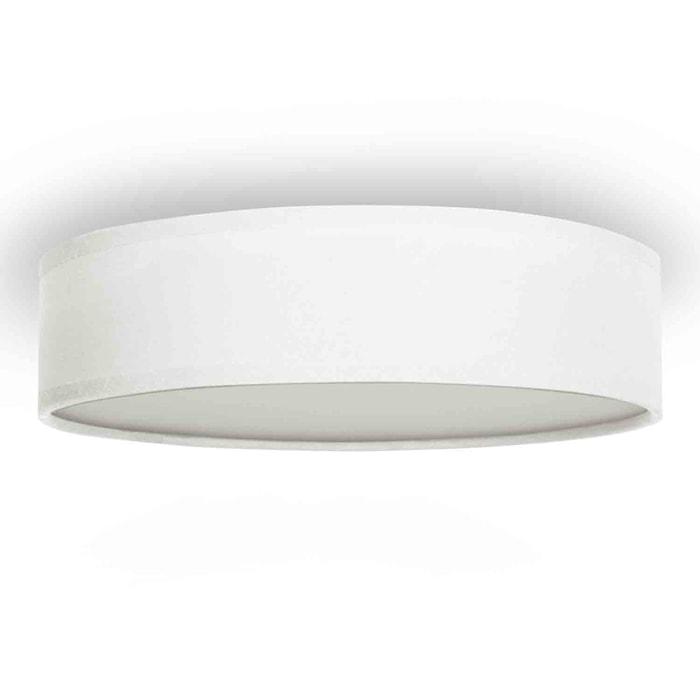 Taglampe Textil Ø40cm Hvid