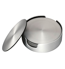 Glasuntersetzer 6er-Pack Aluminium