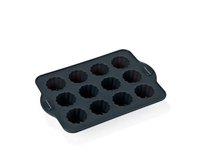 Leivontavuoka 12 kpl harmaa, silikoni