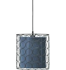 Loftslampe Ring Sort/Blå