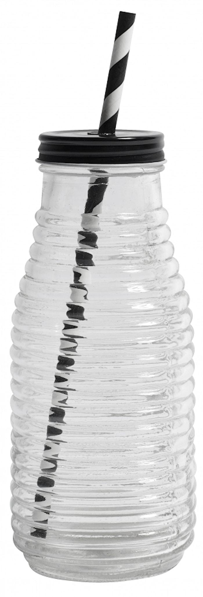 Glasflaska med Lock & Hål för Sugrår