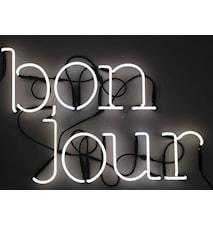 Neon art - Bonjour
