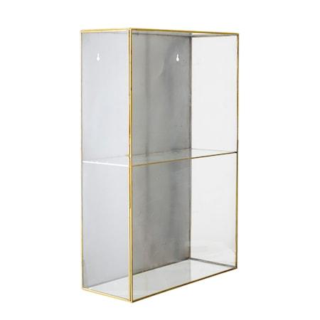 Lia Skåp Glas Guld