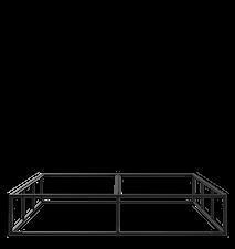 BED FRAME - BLACK (180X200CM)