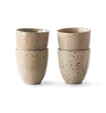 Gradient Ceramics Mug Taupe 4 pieces