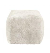 SHEEP Sittepuff Saueskinn Hvit