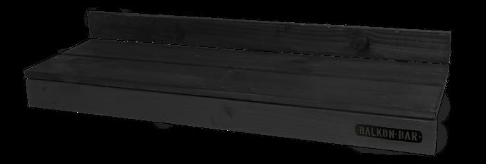 Furu Svart Rectangular Low