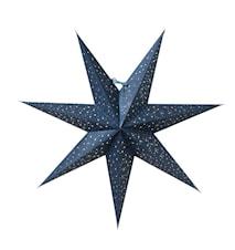 Helsinki Julstjärna Blå/Silver 60 cm