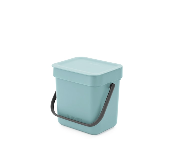 Avfallshink Sort & Go 3 L Mint