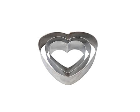 Kagetryksæt 3st Stål, Hjerte