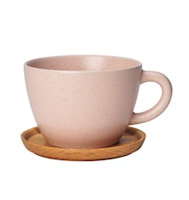 Höganäs Keramik temugg 50 cl med träfat vildros