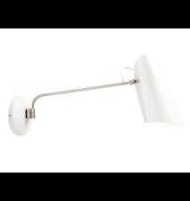 Birdy væglampe - White/aluminium