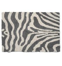 Badrumsmatta Zebra 60x90 Titanium/Vit