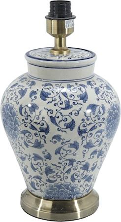 Fang Hong Lampefot Hvit/Blå 38cm
