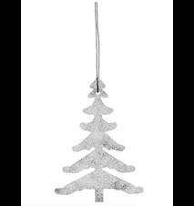 Juletrepynt Tree - Hvit/sølv
