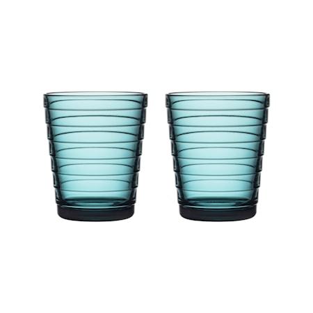 Aino Aalto Glas 22 cl Meerblau 2 Stk