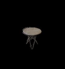 Tall Mini O Table Grå Marmor med Svart Ram Ø50