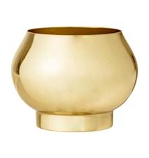 Blomsterkrukke Metall Ø 11 cm - Gull