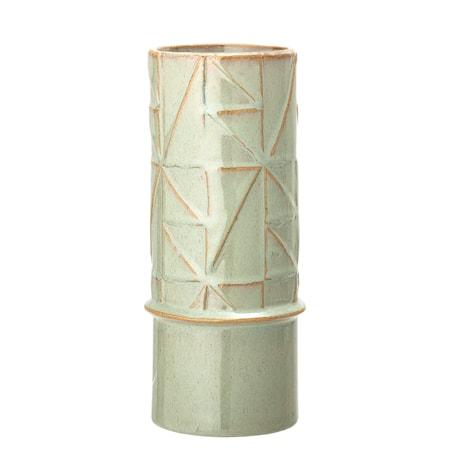 Vase Steintøy Grøn H25 cm