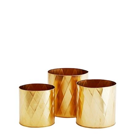 Kruka Ø 26cm Guld