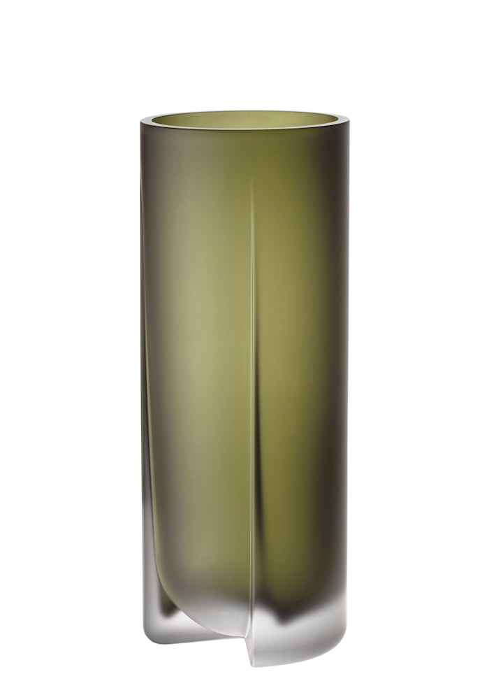 Kuru Vase Frostet Mosegrønn 25,5 cm