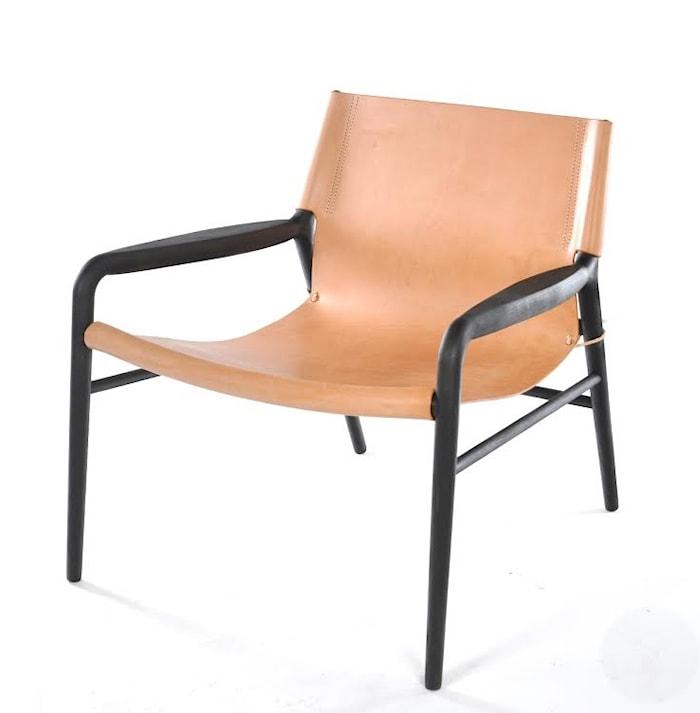 Rama chair fåtölj - Såpbehandlad, natur/svart