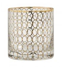 Dricksglas Gold pattern 10 cm