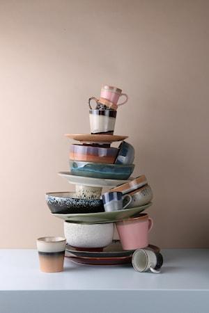 70's Keramik Pastaskål Grøn
