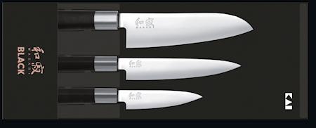 Wasabi Black Knivset 3 Delar 6710P/6715U/6716S