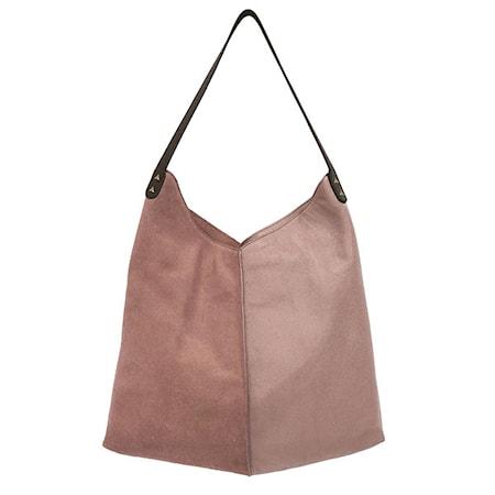 Väska Läder Rosa