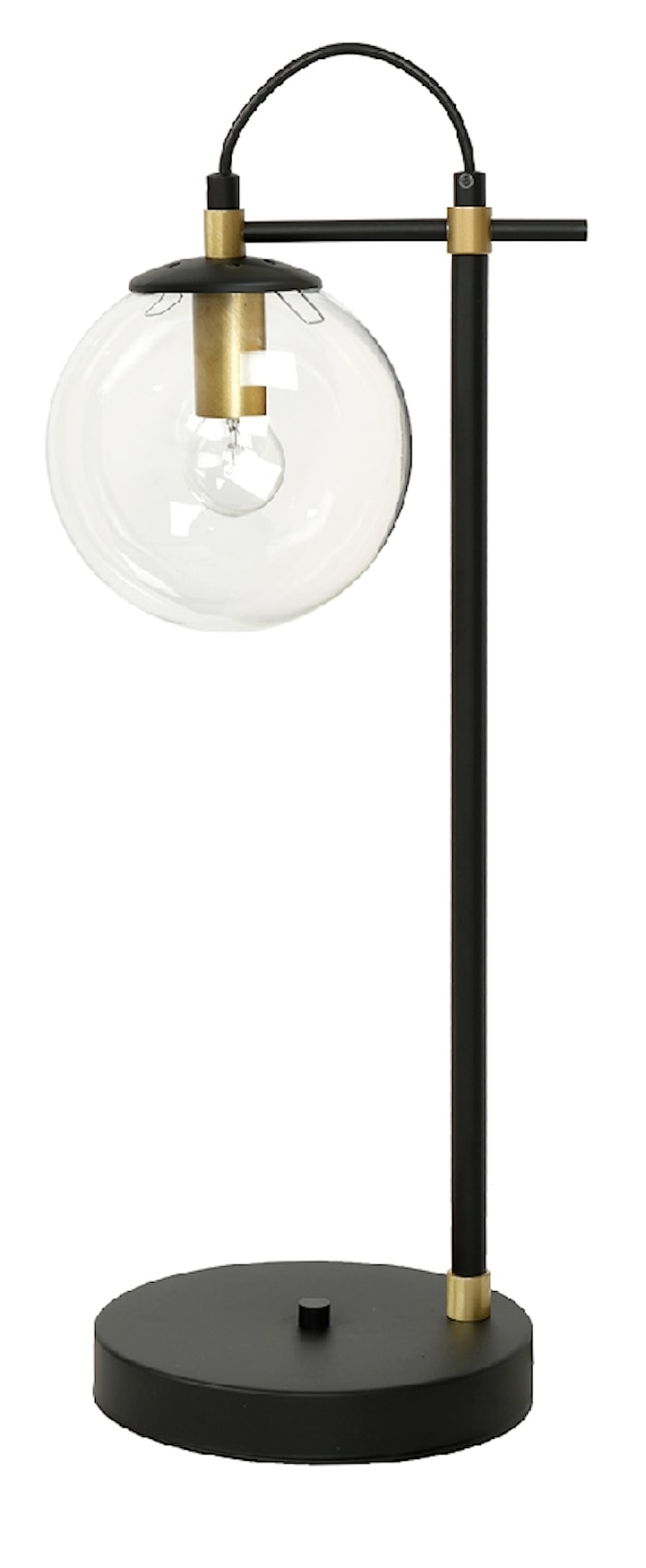 Perla 1 Bordslampa Glas/Mässing/Svart
