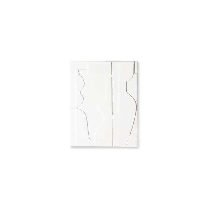 Ceramic Väggdekoration Panel Matt White