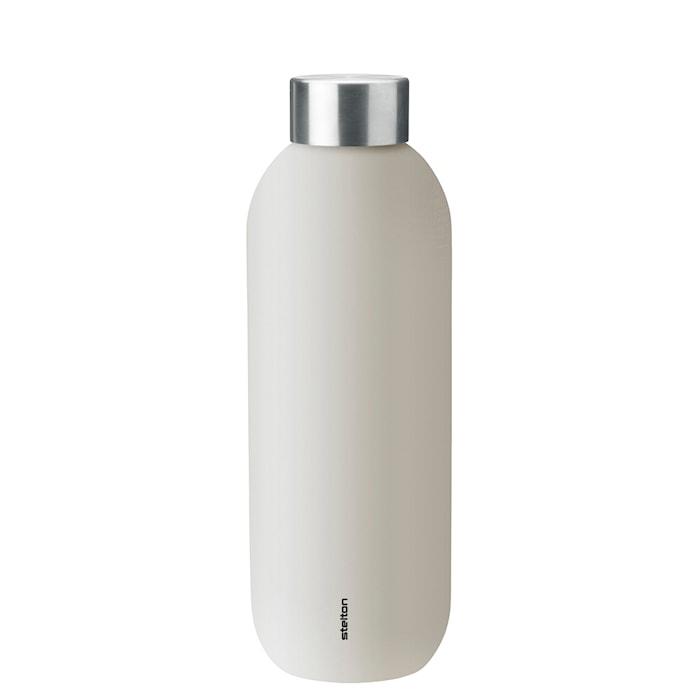 Keep Cool vacuum drinking bottle, 0.6 l. - sand/steel