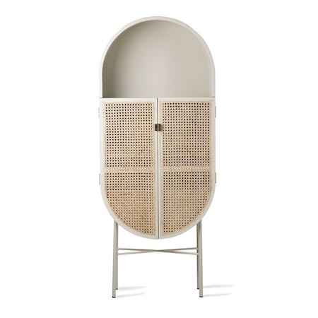 Retro Oval Cabinet Grey/Green