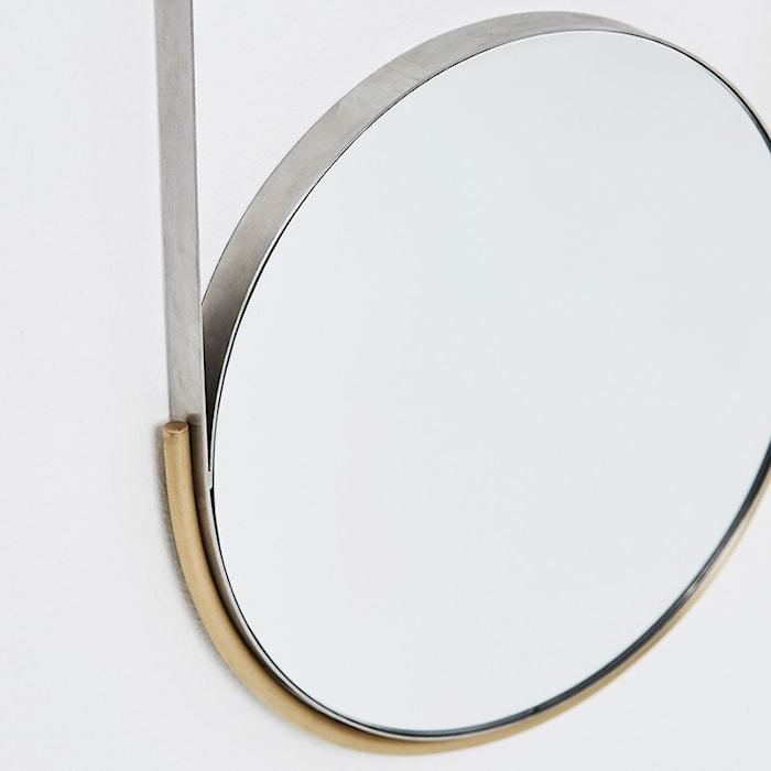 Mobile spegel mässing