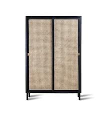 Webbing Sliding Door Cabinet Black