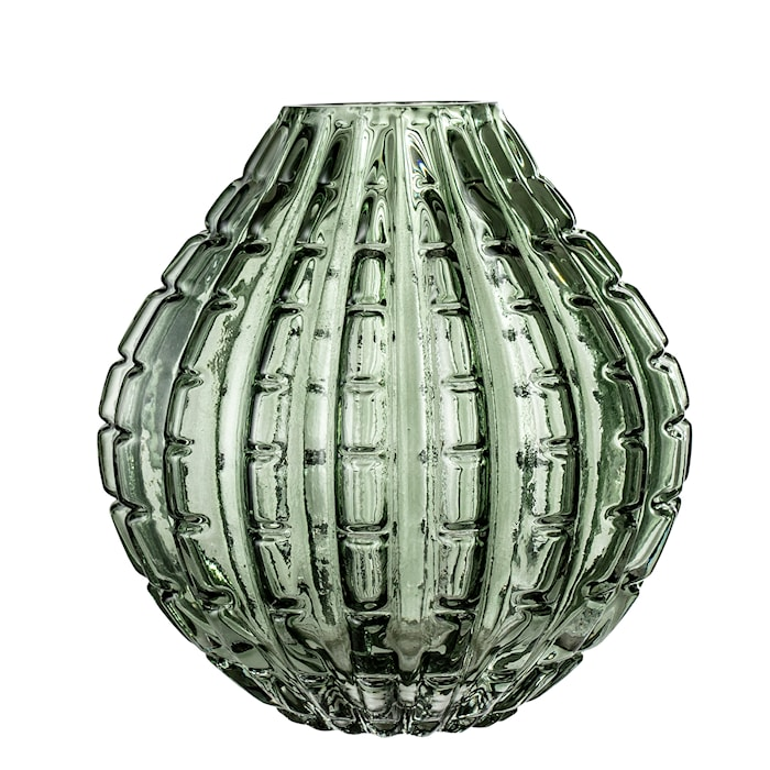 Vase Green Glass Ø16x17 cm