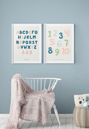 Alfabetet Poster 50x70 cm