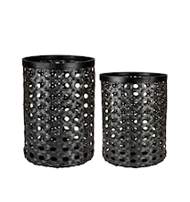 Day Basket Bamboo Black set about 2
