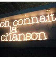 Neon art - On connait la chanson