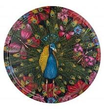 Nadja Wedin Design Bricka 38 cm Påfågeln