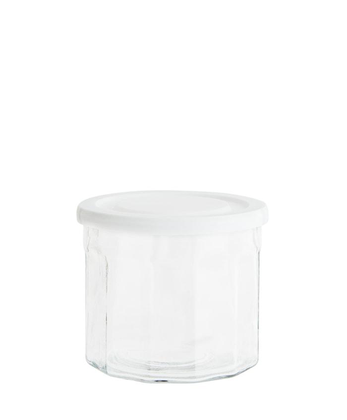 Purkki Ø 13 cm - Valkoinen
