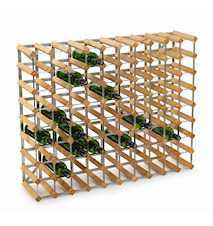 90 Weinflaschen Erweiterungsgestell helles Eichenholz